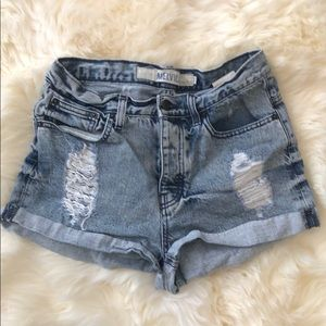Brandy Melville high waisted denim shorts